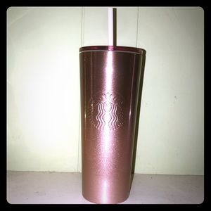 Starbucks Holiday 2018 Rose Gold Cold Cup 24oz